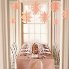 6pc 3D Glittery Large Snowflake Hanging Garland Christmas Party Decorations US