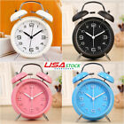 4 Twin Loud Bell Alarm Clock Vintage Classic Bedroom Bedside Battery Operated