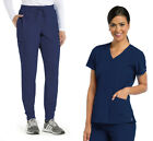 Barco One 5105-BOP513 Women's V-Neck Top - Boost Jogger Pant Medical Scrub Set