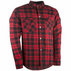 Highway 21 Mens Marksman Flannel Motorcycle Hoody & Armor: Pick Size & Color
