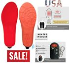 Heated Insoles Wireless Remote Thermacell Controlled Large Rechargeable Battery.