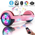 """6.5"""" Bluetooth Hoverboard Self Balance Electric Scooter UL Bag LED Best Gift"""