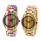 Bewell Bamboo Wooden Colorful Watches Men/Woman Analog Quartz Wrist Watch image
