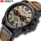 CURREN Men Watch Top Brand Men Military Sport Wristwatch Leather Quartz Watches image
