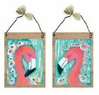 Flamingo Pictures Pink Tropical Florida Bird Bed & Bath Wall Hangings Plaques