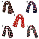 Adult Merry Christmas Women Printed Snowflake Satin-silk Square Scarf Shawl Gd