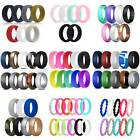 Kyпить 5-12PACKS Flexible Silicone Wedding Ring Men Women's Sport Rubber Band Gift 4-14 на еВаy.соm