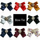 Lady Girl Clip On Bow Tie Necktie Flower Faux Pearl Shirt Accessories Party Chic