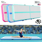 Inflatable Air Track Pad Gymnastics Airtrack Floor Tumbling Fitness Mat+Pump FS image