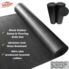Heavy Duty Black Rubber Ramp And Flooring Rolls Mat Abrasion And Wear Resistant image