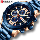 CURREN Men Watches Stainless Steel Wristwatch Male Chronograph Quartz Watch Gift image