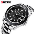 CURREN Men Quartz Watches Luxury Brand Full Steel Wristwatch Male Calendar Watch image