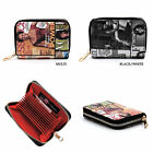 Obama Magazine Cover Collage Accordion Card Holder Wallet Michelle Obama Wallet image