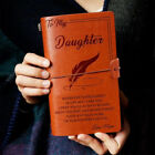 5Types To My Daughter From Dad Mom Engraved Leather Journal Notebook Diary Gift