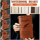 Kyпить 5Types To My Daughter From Dad Mom Engraved Leather Journal Notebook Diary Gift на еВаy.соm