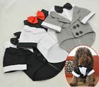 Pet Dog Cat Puppy Clothes Wedding Suit Tuxedo Costume collared Shirt XS S M L XL