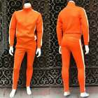 Men's Orange  White Fashion Fitted Tracksuit
