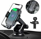 3 in 1 Qi Wireless Fast Charging Car Charger Mount Holder Stand For Cell Phone