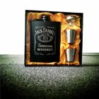 Whisky Flagon 304 Stainless steel  Hip Flask Black Gift Box Set