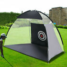 10ft Golf Practice Cage Driving Net Training Aid Mat Driver Irons w/ Free Bag FD