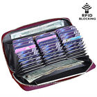 Men's Women's RFID Blocking Leather Credit ID Card Holder Capacity Wallet Clutch