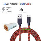 3/6/10Ft Micro USB Fast Charger Data Sync Cable Cord For Samsung LG HTC Android