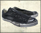 Affliction Kodel Dome Studs Mens Low Top Slip On Canvas Sneakers Black Wax 10-13