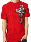 Xtreme Couture Slanted Celtic Cross Wings Military UFC MMA Mens T-Shirt Red S-XL