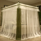 Double Layer Bed Curtain Canopy Mosquito Insect Netting Post Bedding  Queen King image