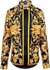 PIZOFF Mens Long Sleeve Luxury Design Print Dress Shirt