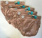 Set of 5 Vanity Fair Women's Breathable Luxe Brief Panties 13186 - Honey Beige