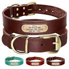Large Personalized Dog Collar Soft Padded Leather Dog Collar  Engraved ID Tag