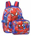 "Marvel Spiderman 16"" Backpack with Detachable Lunch Box - 2 Piece Set"
