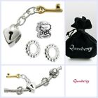 Sterling Silver Key to My Heart Valentine Bead Set for European Charm Bracelet