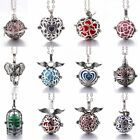 New Diffuser Jewelry Perfume Cages Necklace Vintage Heart Necklaces