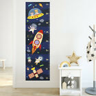 Space Height Growth Chart Wall Decal, Astronaut Animals Rocket Spaceship Stars