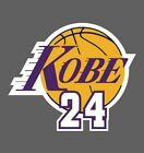 Kobe Bryant 24 Lakers 2 PACK NBA Decal Sticker - You Choose Size - FREE SHIPPING on eBay