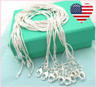 10 PCS USA 925 Sterling Silver 1.2mm Snake Chain Necklace Wholesale Lot  image