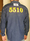 Prison Prisoner's Denim Shirt with Inmate Number