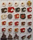 DIFFERENT TEAMS (CALGARY FLAMES ++++)  NHL HOCKEY LOGO PIN (YOUR CHOICE) # G862 $5.95 CAD on eBay