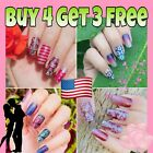 Kyпить Color Nail Polish Strips BUY 4 GET 3 FREE Manicure Nail Stickers US SELLER на еВаy.соm
