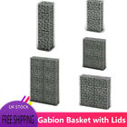 Stable Gabion Basket with Lids Galvanised Wire 100 x 30 / 50 / 80 / 100 x 30 cm