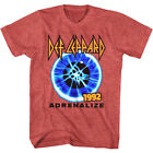 Def Leppard Adrenalize Concert Tour 1992 Men's T Shirt Rock Band Album Music image