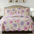 Suzy 3 Piece Quilt Set queen and king size - Purple image