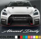 Abused Daily Script Windshield Decal Sticker Vinyl Lift Import Diesel Turbo Low