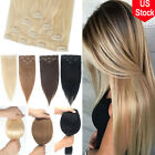 CLEARANCE Clip in Human Hair Extensions 4PCS Full Head 100% Real Remy Hair Long
