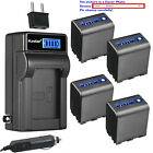 Kastar Battery LCD AC Charger for Sony NP-QM91D & Sony CCD-TRV106 CCD-TRV108