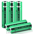 AA Battery 1.2v 2000mAh Ni MH Rechargeable Solar Battery for Yard Lights US
