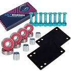 "Cal 7 Skateboard Set - 1"" Chrome Hardware, 1/8"" Riser Pads, and ABEC-7 Bearings"