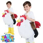 Kids Ride On Chicken Costume Easter Fancy Dress Boys Girls Book Week Day Outfit